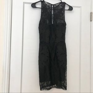 H&M Fitted Black Lace Dress